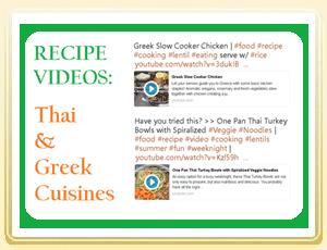 3 Recipe Videos Thai and Greek Cuisines
