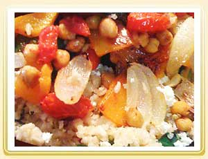 Brown Rice - Quinoa With Roasted Veggies And Feta
