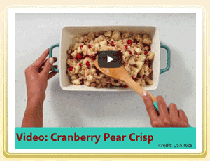 Cranberry Recipe Video: How to Prepare Cranberry Pear Crisp Recipe
