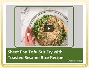 Video Post: An Awesome Tofu and Rice Recipe